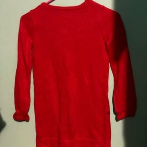 GAP Dresses - Gap kids girls red sweater with sequin hearts